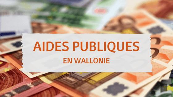 Les aides publiques en wallonie