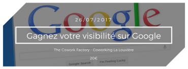 Formation «Gagner sa visibilité sur Google»