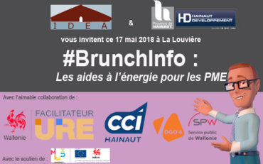 #BrunchInfo : Les aides à l'Energie pour les PME – 17/05 – La Louvière