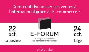 E-Forum 2019 – Le 22/10 à La Louvière